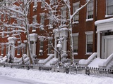 Brownstones in Blizzard