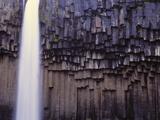 Iceland  Skaftafjell National Park  Svartifoss Waterfall
