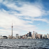 Skyline of Toronto  Ontario  Canada with Lake Ontario