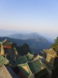 Taoist Temple in Mountain Landscape