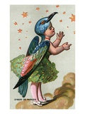 Illustration of Child Dressed in Bird of Paradise Costume