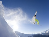 Snowboarder in French Alps