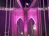 Brooklyn Bridge Lit Purple