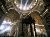 Shafts of Light Inside St Peter's Basilica