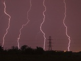 Multiple Lightning Strikes in Dallas