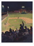 Illustration of First Major League Game Played Under Floodlights by HM Molt-Smith
