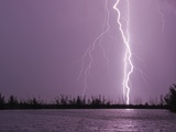 Lightning Striking near Lake