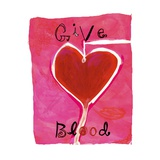 Give Blood Sign with Heart