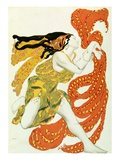 Costume Design for a Bacchante by Leon Bakst in Narcisse