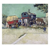 The Caravans  Gypsy Encampment near Arles