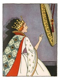 Illustration of the Evil Queen Before the Mirror by Bess Livings