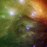 Pleiades Seen Through Nasa&#39;s Spitzer Space Telescope