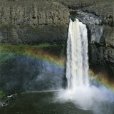 Rainbow Caused by Waterfall
