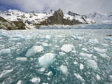 Ice Chunks From Twitcher Glacier Below the Salvesen Range