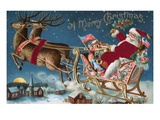 A Merry Christmas with Santa in His Sleigh