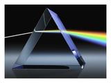 Light Beam Through Glass Prism