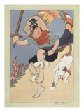 Illustration of a Boy Pirate and His Dog by Jan Cragin