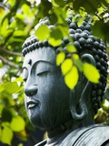 Buddha in Senso-ji Temple Garden Papier Photo par Bruno Ehrs