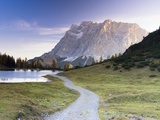 Autumn Morning at Lake Seebensee by Mt Zugspitze