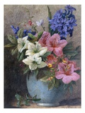 A Vase of Azaleas and Hyacinth