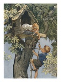 Book Illustration of Children in Treehouse by Inez Topham