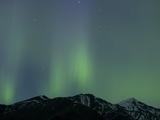Aurora Borealis over Mountain Range
