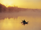 Fly-fishing in Lake Muskoka  Ontario