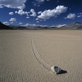 Rock Pushed by Wind in Desert