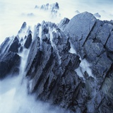 Rock Formation in Fog