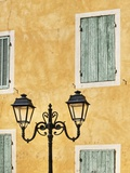 Street Light and Typical Provencal Architecture in Orange