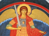 Saint Michael Fresco at Monastery of Saint-Antoine-le-Grand