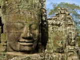 Detail of Face on Bayon Temple