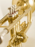 Closeup of trumpet