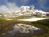 Mount Rainier Reflecting on Pond