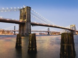 Brooklyn Bridge and Manhattan Bridge at Twilight
