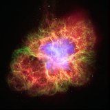 Spiral Galaxy in Crab Nebula