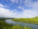 Liard River Near the Alaska Highway in Canada