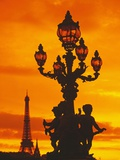 Street Light on Pont Alexandre III at Sunset