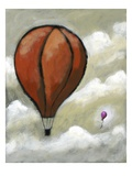 Large hot air balloon and small hot air balloon