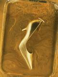 Golden High Heel Shoe