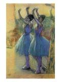 Two Blue Dancers Giclée par Edgar Degas