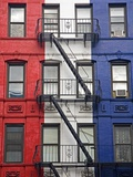 Red  White  and Blue Apartment Building