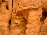 Eroded Sandstone Cliff With Holes