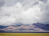 Stormy Sky over Death Valley Badlands