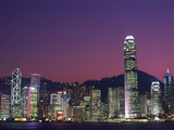 Skyline of Central District in Hong Kong