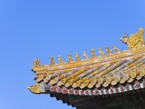 Traditional Decorative Roof Tiles in the Forbidden City