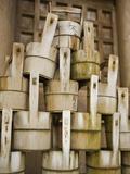 Buckets Stacked at Yasaka Shrine in Kyoto
