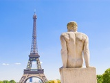 Eiffel Tower and Statue Outside Trocadero