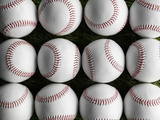Baseballs in Rows