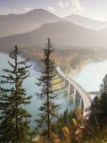Road Bridge Over Lake Sylvenstein in Bavaria